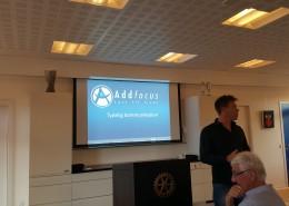 Allan Olesen fra Addfocus besøger Hadsten Rotary Klub