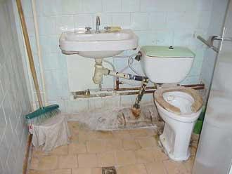 Toiletforholdene på det lokale hospital i Kupiskis