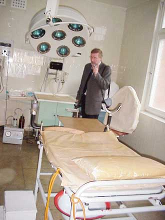 Operationsstuen på hospitalet i Kupiskis, Litauen