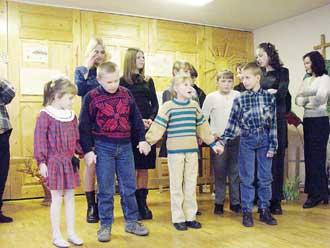 Besøg på det lokale børnehjem i Kupiskis