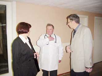 Besøg på det lokale hospital i Kupiskis