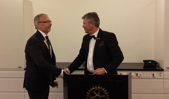 Præsidentskifte i Hadsten Rotary Klub