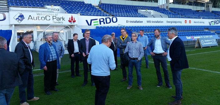Hadsten Rotary Klub på rundvisning på AutoC Park Randers - hjemmebane for Randers FC
